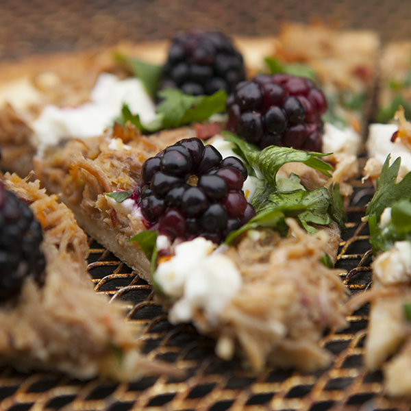 Pulled pork blackberry feta
