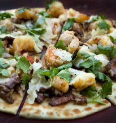 Chantrelle mushroom, shrimp, fontina cheese